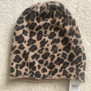 Cheetah Print Cashmere hat